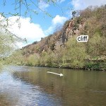 A river cliff