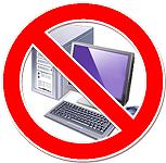 No computers