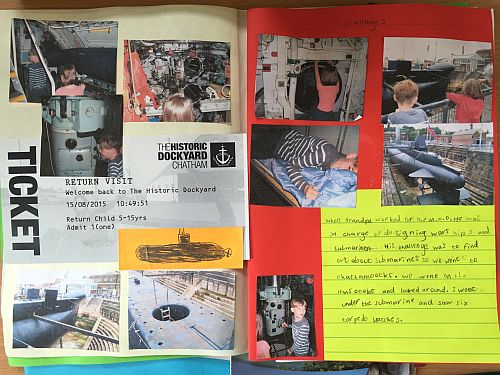Oli's pages about a warship at Chatham Dockyard