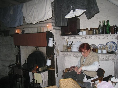 Inside a poor cottage