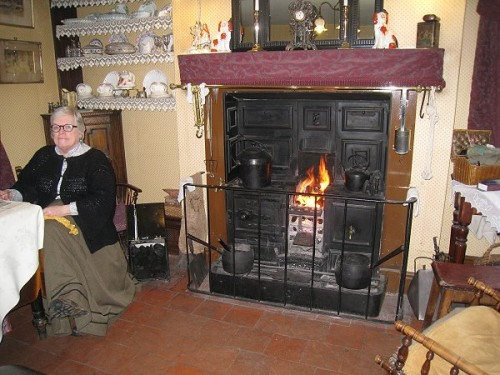 Inside a cottage